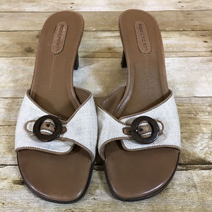 Rockport Women's Sandals Mules Block Heels Sz 8.5